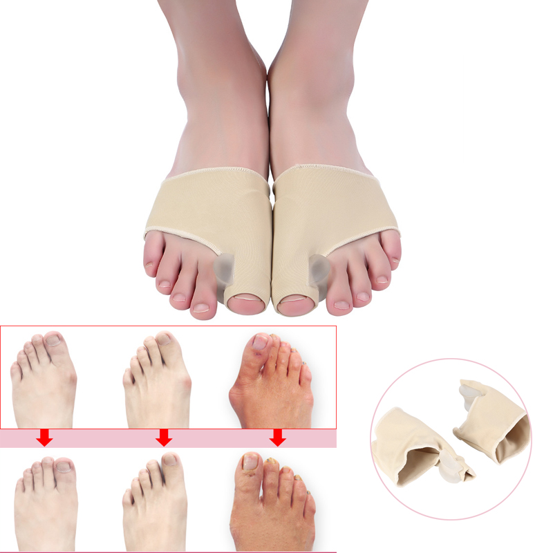 1pair Breathable Foot Fingers Toe Separator Thumb Valgus Protector   Painless Posture Corrector Toe Hallux Valgus Thumb Brace