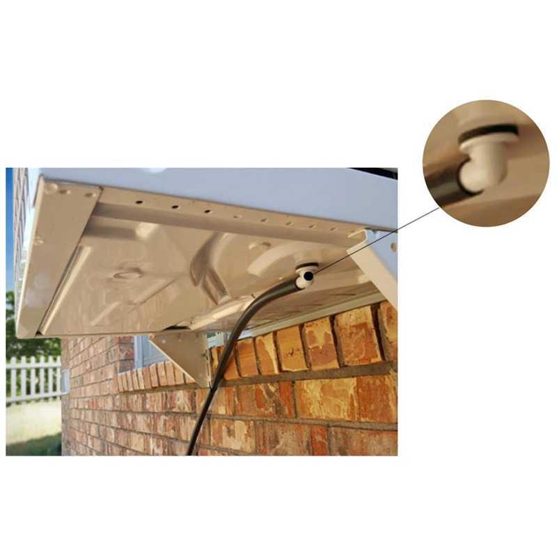 Conector de manguera de drenaje de aire acondicionado Ac, accesorio de codo con anillo de goma para unidades de minidivisión y unidad de CA de ventana de 3/5 pulgadas (15Mm)