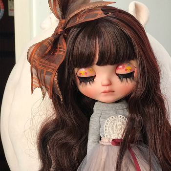 Blyth Doll NBL 1/6 BJD Customized Frosted Face,big eyes Fashion girl makeup Ball Jointed Doll Tender little cute girl 8