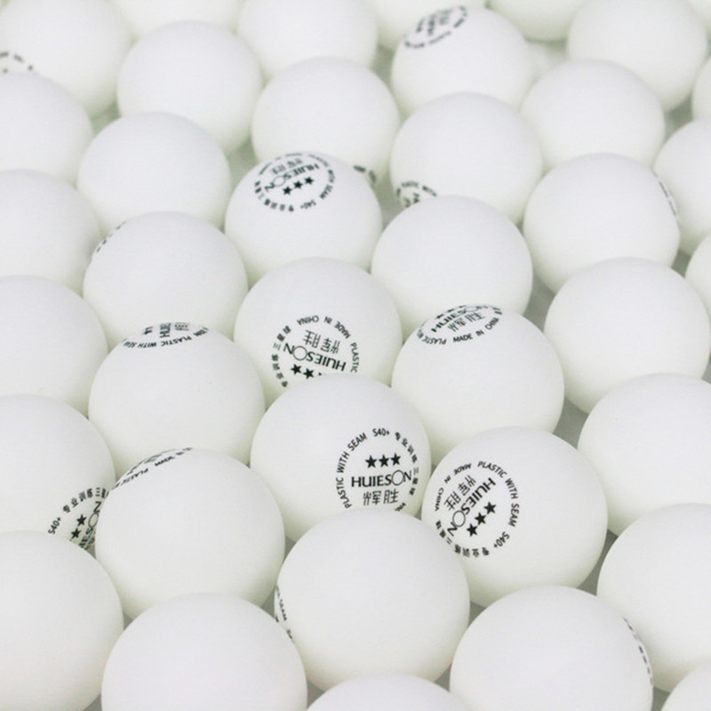 Huieson 100pcs/lot 3 Star New Material Environmental Ping Pong <font><b>Ball</b></font> S40+ 2.8g <font><b>ABS</b></font> Plastic <font><b>Table</b></font> <font><b>Tennis</b></font> <font><b>Balls</b></font> for Match Training image