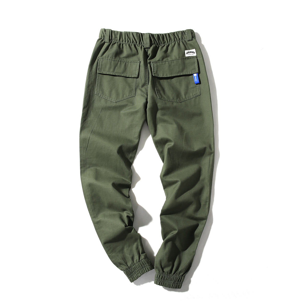 Spring Summer Pants Men's Japanese-style Popular Brand Loose-Fit Ankle Banded Pants Men's Casual Closing Skinny Cargo Trousers H