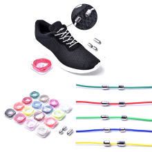 1 Pair Elastic Locking Creative Shoelaces Round No Tie Shoe Laces Kids Adult Sneakers Fast Lazy Lace Shoestrings