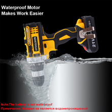 цена на 21V 18+3 Torque Hammer Drill Impact Screwdriver Cordless Drill Impact Drill Cordless Screwdriver Power Tools Electric Drill Hand