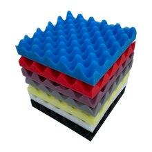 Panel aislante de sonido de espuma acústica, 25x25x4cm, esponja de absorción para pared, estudio KTV, pegatinas de esponja insonorizadas para decoración de pared
