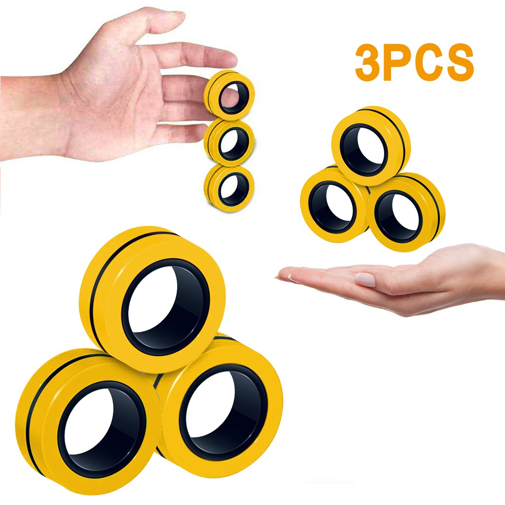 Toy Ring Ring-Finger-Spinner Magnetic-Rings Fidget Decompression Anti-Stress Magic Adult img3