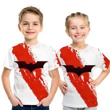 2019 New Boys T-shirt Tops Superman Batman 3D print Summer Kid Short Sleeve Tee Shirt Baby Clothes Children Cosplay Costume