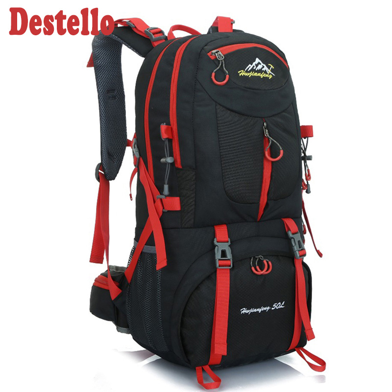 Hiking Backpack Rucksacks Travel-Bag Gym-Bags Outdoor Large 50L Women title=