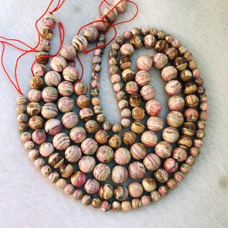 AAA Natural Rhodochrosite Gemstone Round Beads Natural Smooth and Round Beads Rhodochrosite Beads,Natural Rhodochrosite,6mm 8mm 10mm 12mm