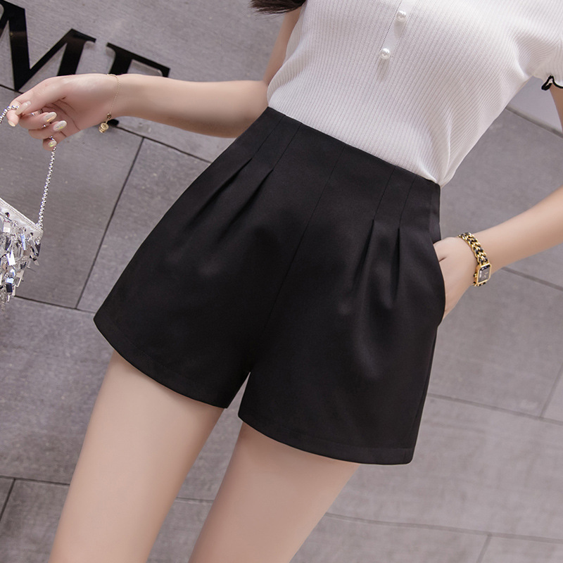 S-3xl Simple Elastic High-waist Chiffon Shorts Women Summer 2019 Fashion Thin Black Shorts Womens Sweat Ladies Shorts Feminino