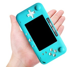 Image 4 - Retro fc built in 208 game 1000mAh battery Retro Video handheld game console 4.0 inch HD LCD 360° double joystick control game c