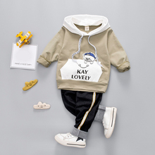 Toddler Baby Boys Girl Clothing Set For Kids Casual Letter Hooded Autumn Spring Children's Sports Suits Clothes 1 2 3 4 Years цена