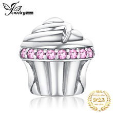 JewelryPalace Cupcake 925 Sterling Silver Beads Charms Original For Bracelet original Jewelry Making