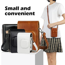 For Fujifilm Instax Mini Liplay Camera Bag Case PU Leather Vintage Shoulder Strap Pouch Camera Protection Carry Cover Photo Bags(China)