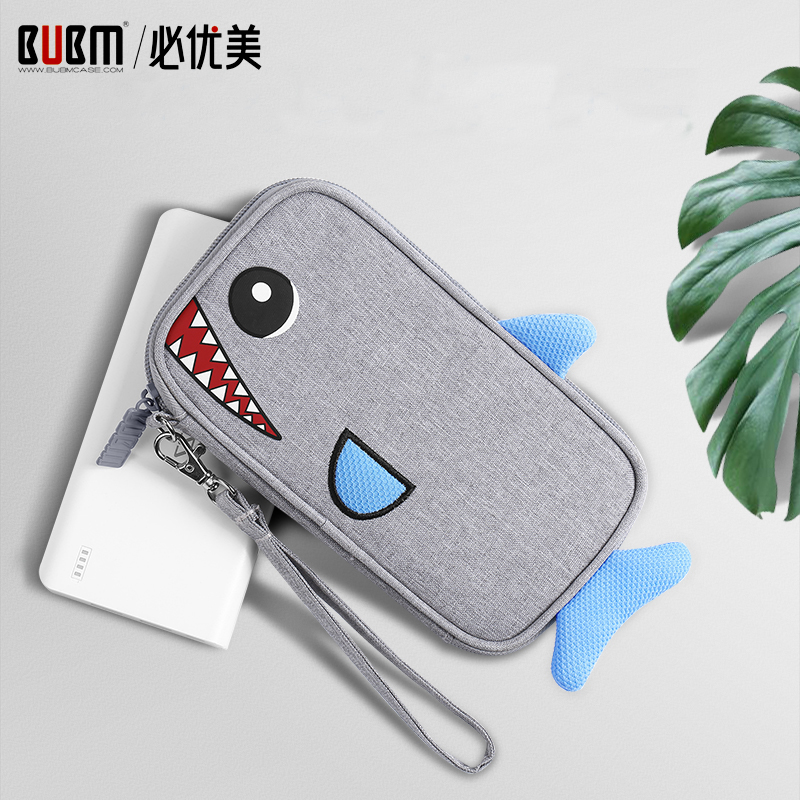 BUBM Portable Bag For 20000 MAh Power Bank Pouch Carrying Case  Cable Organizer Portable Bag For External Battery Compact Charge