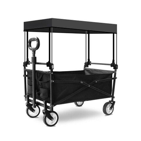 acampamento ao ar livre carrinho de mao multi papel 5 polegada quatro rodas de compras