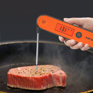 Image 2 - Automatic Switch Digital Barbecue Thermometer IHT 1P Meat Temperature Waterproof Instant Read Thermometer Calibration Backlight