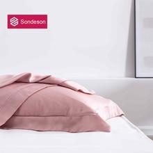 Sondeson Luxury Beauty 100% Silk Pink Pillowcase 25 Momme Silky Healthy Skin Hair Pillow Case For Women Men Kids Free Shipping