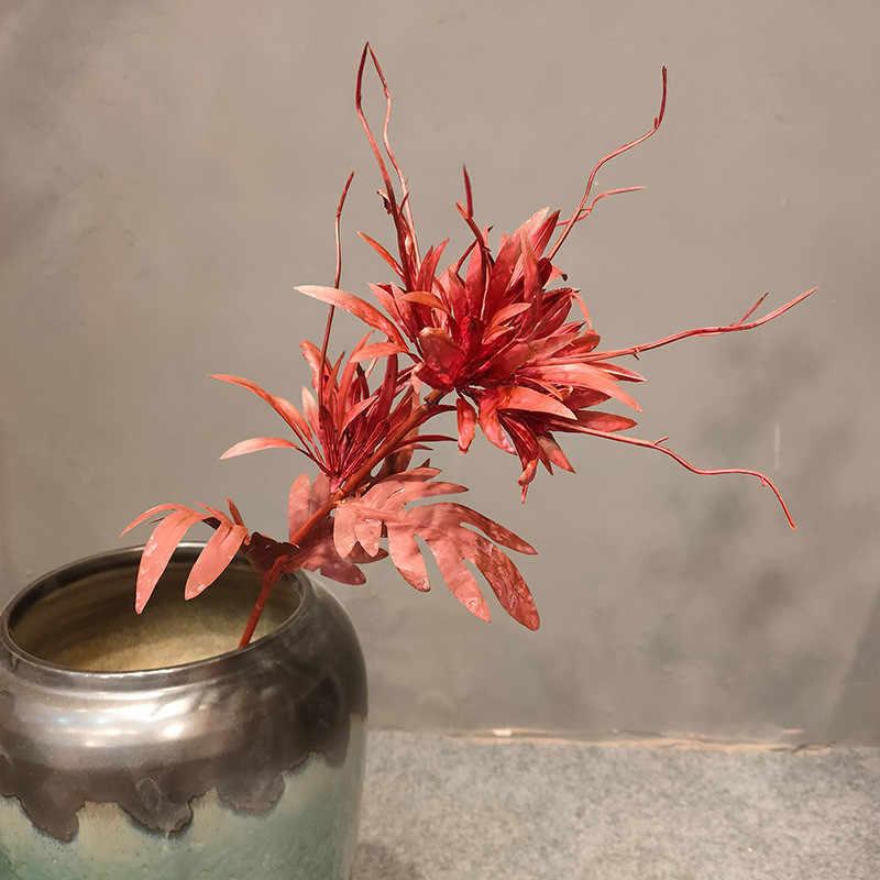 1pc Simulation Koriander Einzigen Zweig Flamme Lotus Blume Kunststoff Drachen Whisker Blume Hochzeit Anordnung Blume