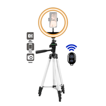 26cm Photo Ringlight Led Selfie Ring Light Lamp Phone Holder Bluetooth Remote Photography with 43 Inch Tripod Youtube Video Live
