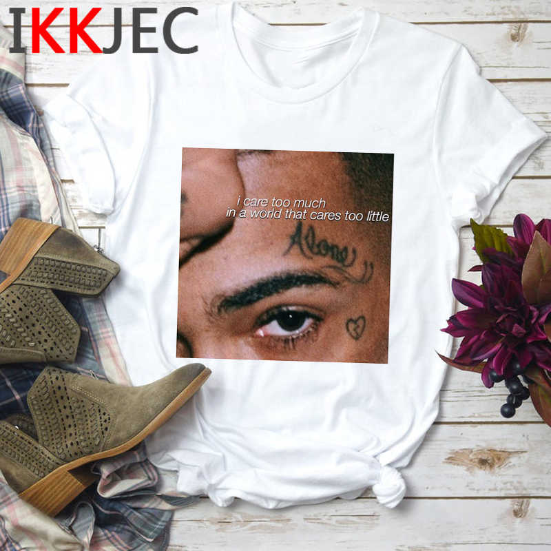 Xxxtentacion Rapper Rip Harajuku T Shirt Men Aesthetic Broken Heart T-shirt Summer Anime Graphic Tshirt Casual Top Tees Male