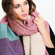 [OuMo] brand high quality women's scarf 200*90cm 2019 Autumn winter new style shawl Cashmere Female Keep warm Long