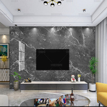 Самоклеящиеся 3D-обои из темно-серого камня, большая тарелка из мрамора, обои для гостиной, фона под телевизор, Настенная роспись для столово...
