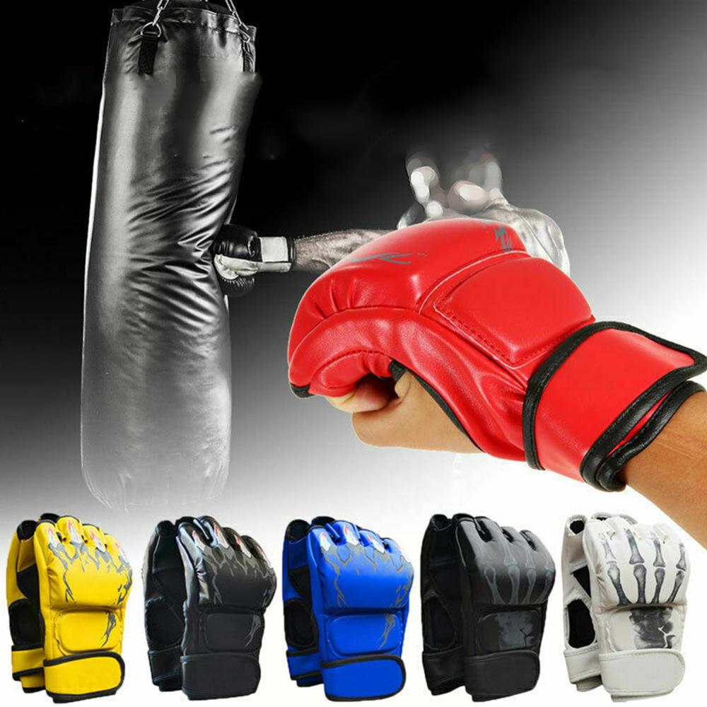 Luvas de Boxe Alta Qualidade Adultos Mulheres Homens Poupando Luta Thai Mma Punch Treinamento Luvas –
