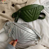 DORANMI V rayé Fanny Pack femmes poitrine sac 2019 marque de luxe conçu Nerka solide ceinture sacs taille Pack BG076