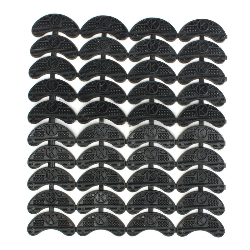 AUAU-40PCS 20-Pair Rubber Heel Savers Toe Plates Taps DIY Shoe Repair Pads Size:56*24*3.1MM