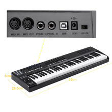 WORLDE PANDA61 Tragbare 61 Key USB MIDI Tastatur Controller 8 RGB Bunte Backlit Trigger Pads mit USB Kabel