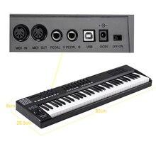 Worlde PANDA61 ポータブル 61 キーusb midiキーボード · コントローラ 8 rgbカラフルなバックライトトリガー · パッドとusbケーブル