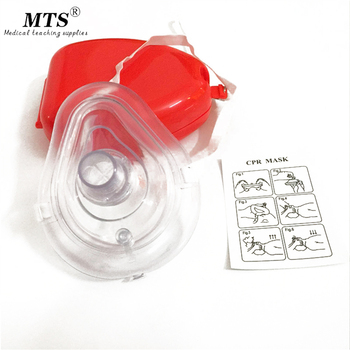 цена на Professional CPR First Aid Breathing Mask With One-way Valve Reuseable medical face mask Medical emergency training