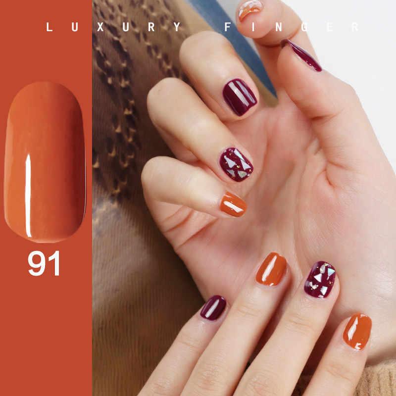 Luxo dedo quente 15 ml rosa laranja caramelo cor embeber-fora unhas gel polonês tinta híbrida gel vip diamante lantejoulas unha arte manicure