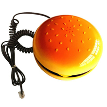 Cheeseburger Burger Phone Telephone Cute Telephones Landline Corded Phone Desktop Phone for Home Hotel Office Decoration deli 796 seat type telephone set corded telephone low radiation family numbers memory office home telephone set pregnant