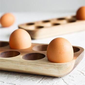 Multi-grid Egg Wood Tray Refrigerator Crisper Container Home Kitchen Desktop Exquisite Decorative Storage Trays Trinket Dishes 5