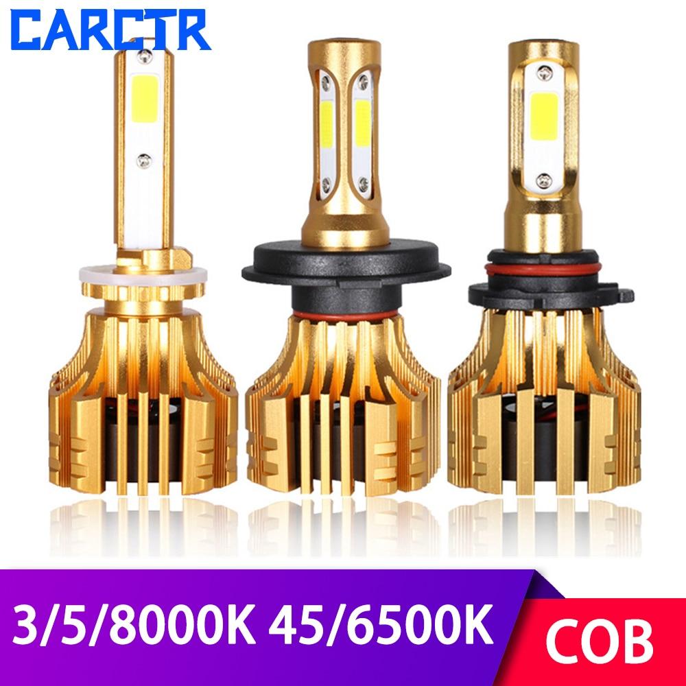 Universal Led de la linterna del coche 3000K 4500K 5000K 6500K 8000K H1 H3 H7 lámpara de LED 9005 9006 H11 H4 5202 880 60W modificado las luces del coche