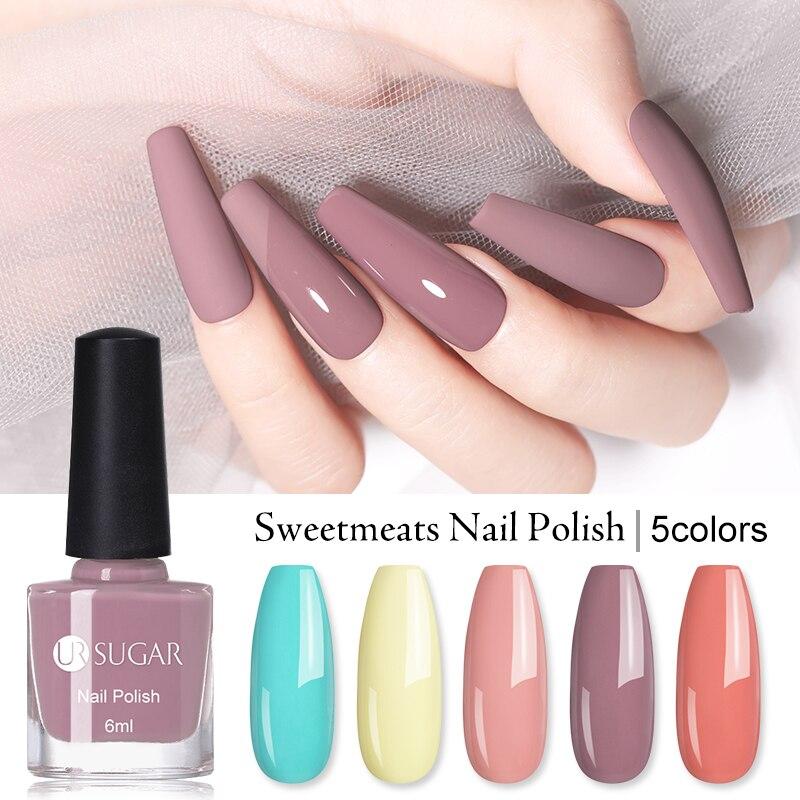 UR SUGAR 6 мл конфетный лак телесного цвета серия лак для ногтей цветной лак для ногтей Быстросохнущий лак для ногтей