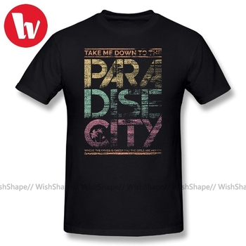 Guns N Roses T Shirt Men Paradise City Letter Print Awesome Plus Size 5XL 6XL T-Shirt Men's Short Sleeve Cotton Music Tee Shirt цена 2017