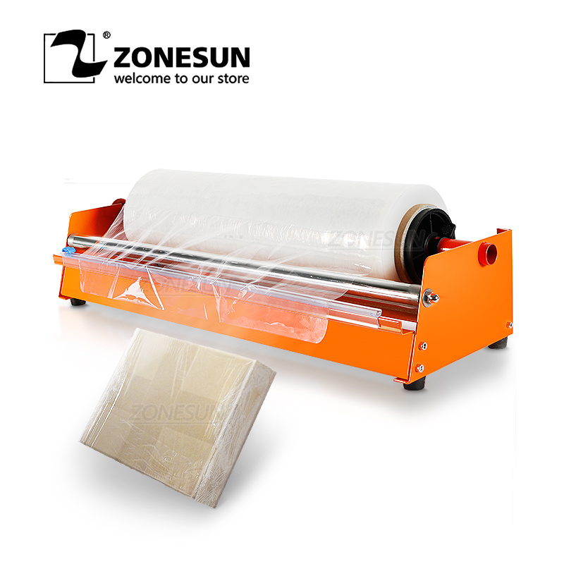 ZONESUN Manual Stretch Film Wrapping Machine Dispenser Tools Pallet Packing Equipment Film Package Machinery