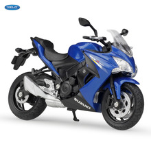 WELLY 1:18  2017 SUZUKI GSX-S1000F   Diecast Alloy Motorcycle Model Toy For Children Birthday Gift Toys Collection license plate holder for suzuki gsxs 750 gsx s 750 gsx s 1000 gsxs 1000f motorcycle accessories tail tidy fender bracket