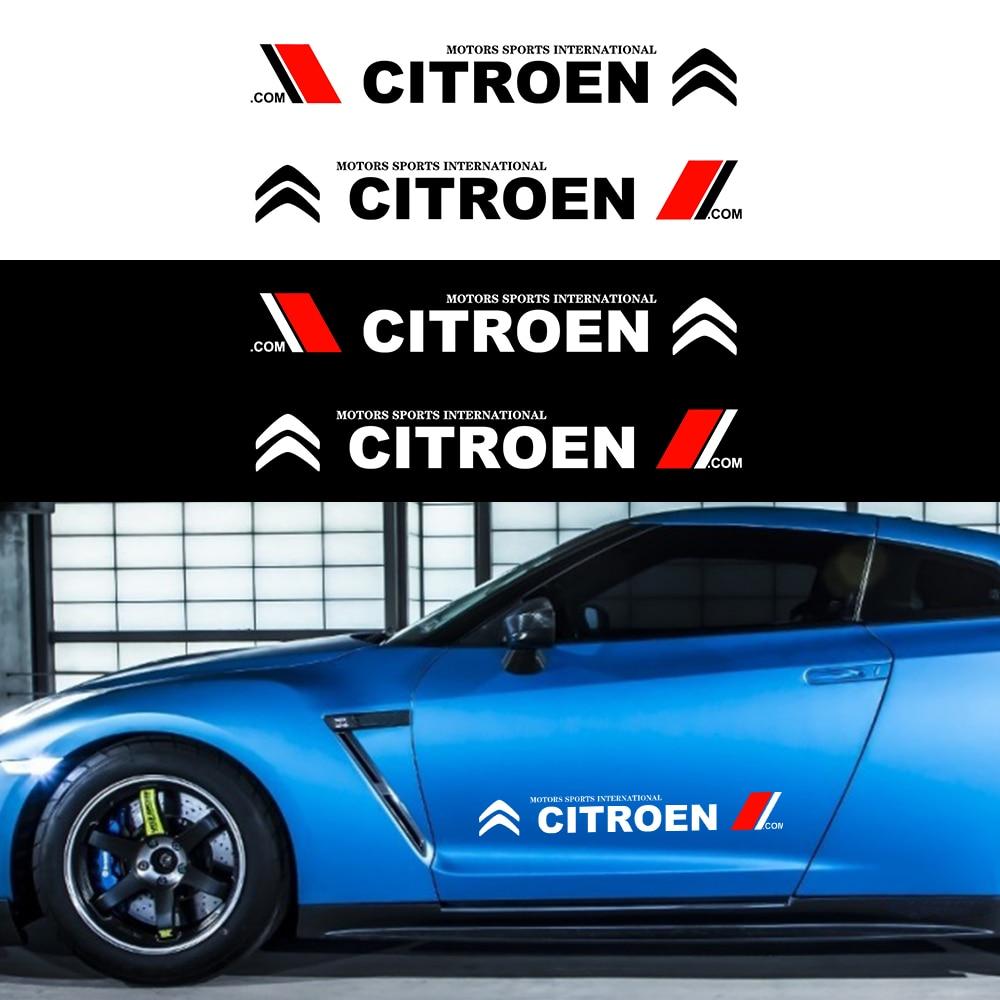 Наклейки для кузова автомобиля 2 шт., виниловая пленка, наклейки, Модный логотип, автомобильная наклейка для Citroen C4 C1 C5 C3 C6 C5 C8 DS C ELYSEE VTS C4l Xantia DS Наклейки на автомобиль      АлиЭкспресс