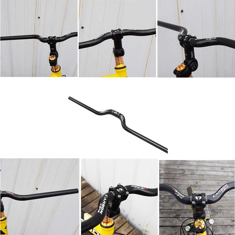 Durable MTB Road Bike Handlebar Ultralight Carbon Fiber Bicycle Bar 600-740mm