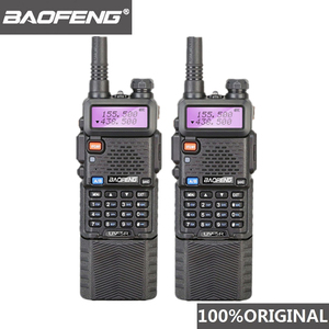 Image 1 - 2 Stuks Baofeng UV 5R 3800 Mah Long Range Walkie Talkie 10Km Dual Band Uhf En Vhf UV5R Ham Hf transceiver Draagbare Uv 5R Radio Station