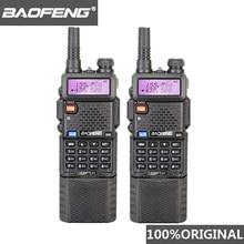 2 pezzi Baofeng UV 5R 3800 MAh Walkie Talkie a lungo raggio 10KM Dual Band UHF e VHF UV5R Ham Hf ricetrasmettitore portatile UV 5R Radio Station