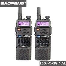 2 pièces Baofeng UV 5R 3800 MAh longue portée talkie walkie 10KM double bande UHF & VHF UV5R jambon Hf émetteur récepteur Portable UV 5R Station de Radio