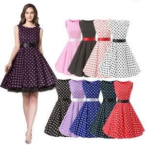 50s летнее женское платье средней длины, вечерние платья без рукавов с цветочным принтом размера плюс, платье в стиле Хепберн, рокабилли, длин...