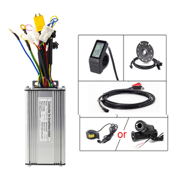36v 48 250w 350w 500w 750w 1000w 1500w electric bike conversion kit controller with lcd5 lcd3 and color display lcd8s Ebike Conversion Kit 500w with KT Controller 36V 48V KunTeng LCD4 Display Electric Bike PAS Sensor and E Bike Thumb Throttle