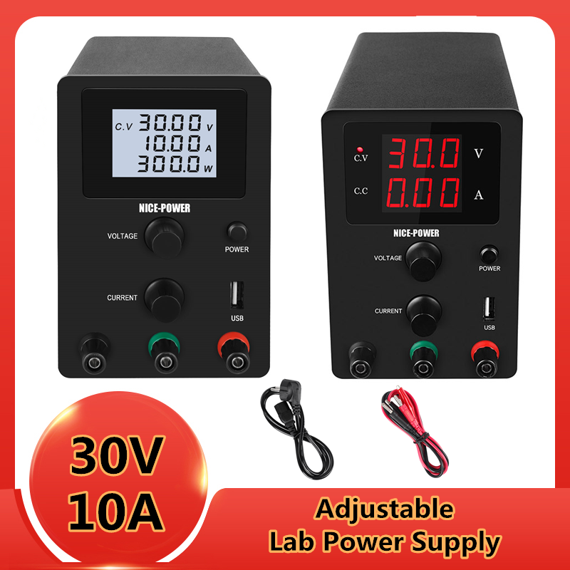 Digital Lab Bench Regulated Switching <font><b>DC</b></font> <font><b>Power</b></font> <font><b>Supply</b></font> <font><b>30V</b></font> 10A 60V <font><b>5A</b></font> Adjustable Laboratory <font><b>Power</b></font> Source Voltage Regulator 120V image