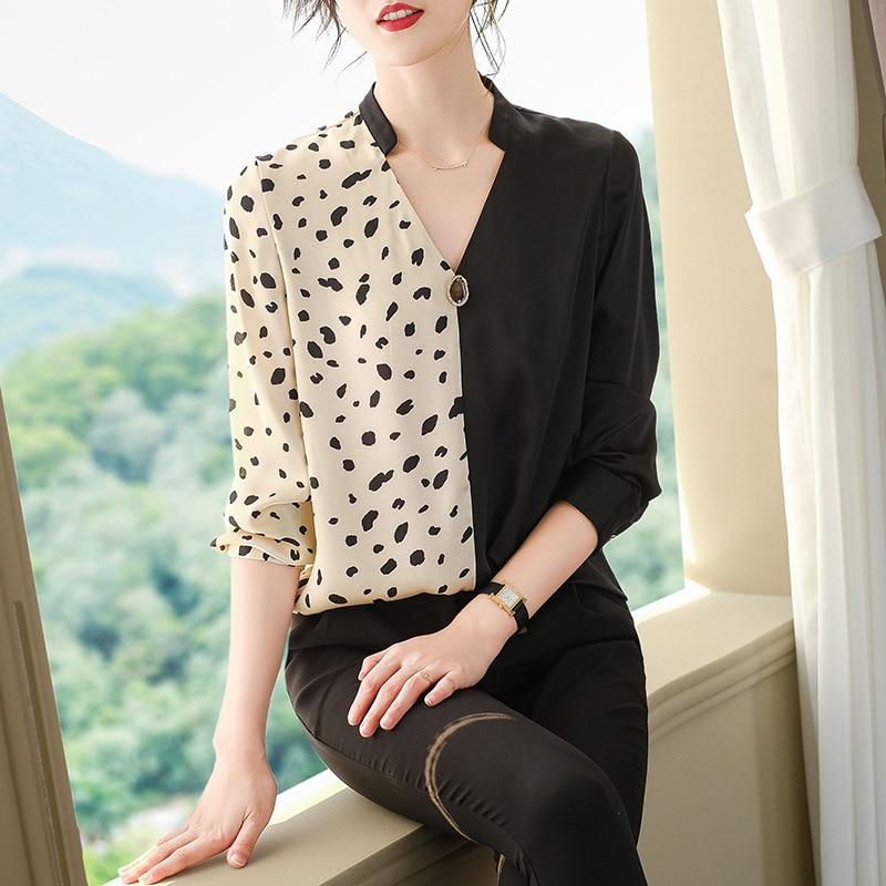 Polka Dot femmes hauts et chemisiers 2020 printemps été nouvelle mode coréenne vêtements grande taille chemise femmes à manches longues vêtements