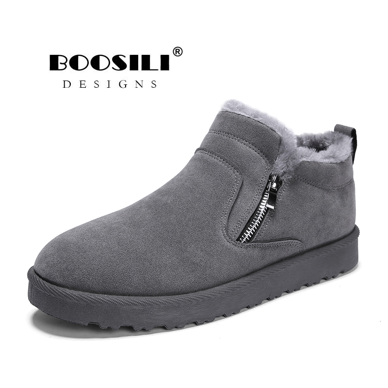 Winter Shoes Snow-Boots Antiskid-Bottom Waterproof Men New-Fashion Boosili Solid Rushed